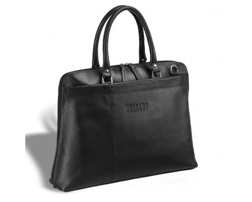 Женская деловая сумка BRIALDI Augusta (Огасто) relief black