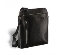 Кожаная сумка через плечо BRIALDI Providence (Провиденс) black в магазине Galantmaster.ru фото