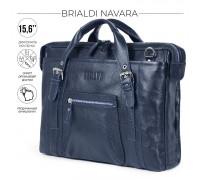 Деловая сумка BRIALDI Navara (Навара) relief navy BR34130PD