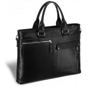 Деловая сумка Slim-формата для документов BRIALDI Bresso (Брессо) relief black BR17819CZ