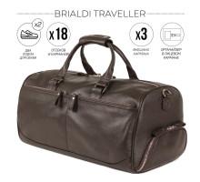 Дорожно-спортивная сумка BRIALDI Traveller (Путешественник) relief brown