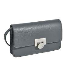 Элегантная сумочка-клатч BRIALDI Paola (Паола) relief grey