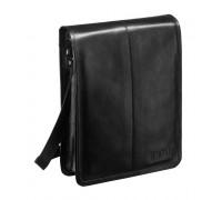 Кожаная сумка через плечо BRIALDI Boston (Бостон) black в магазине Galantmaster.ru фото