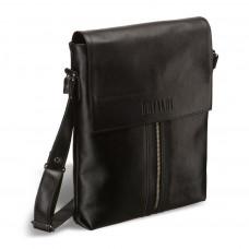 Кожаная сумка через плечо BRIALDI Positano (Позитано) black в магазине Galantmaster.ru фото