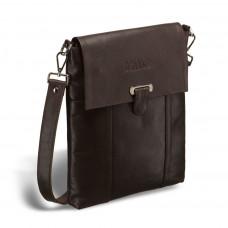 Кожаная сумка через плечо BRIALDI Toronto (Торонто) brown в магазине Galantmaster.ru фото