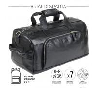 Дорожно-спортивная сумка трансформер BRIALDI Sparta (Спарта) relief black