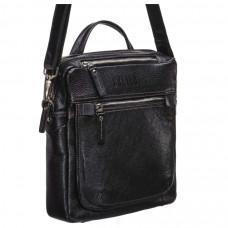 Кожаная сумка через плечо BRIALDI Preston (Престон) black в магазине Galantmaster.ru фото