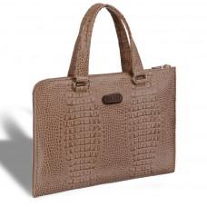 Женская деловая сумка BRIALDI Aisa (Аиса) croco cappuccino в магазине Galantmaster.ru фото