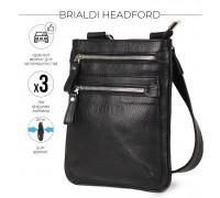 Кожаная сумка через плечо BRIALDI Headford (Хедфорд) relief black в магазине Galantmaster.ru фото