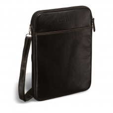 Кожаная сумка через плечо BRIALDI Matelica (Мателика) black в магазине Galantmaster.ru фото