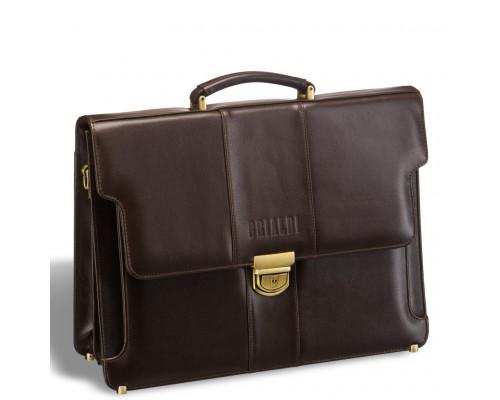 Классический деловой портфель BRIALDI Kant (Кант) brown