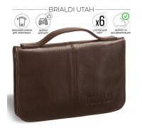 Мужской клатч BRIALDI Utah (Юта) relief brown BR02979DT