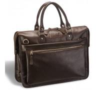 Деловая сумка для документов BRIALDI Pascal (Паскаль) relief brown