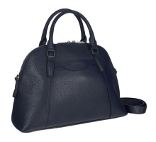 Женская деловая сумка среднего размера BRIALDI Ambra (Амбра) relief blue