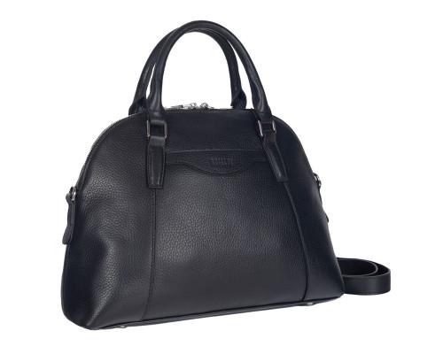Женская деловая сумка среднего размера BRIALDI Ambra (Амбра) relief black