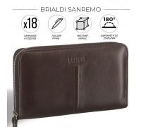 Элегантный мужской клатч BRIALDI Sanremo (Санремо) brown