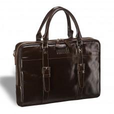 Деловая сумка для документов BRIALDI Darwin (Дарвин) shiny brown в магазине Galantmaster.ru фото