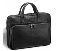 Удобная деловая сумка для документов BRIALDI Pasteur (Пастер) relief black