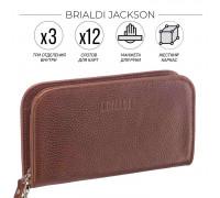 Компактный мужской клатч BRIALDI Jackson (Джексон) relief rust