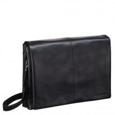 Кожаная сумка через плечо BRIALDI Chelsea (Челси) black в магазине Galantmaster.ru фото