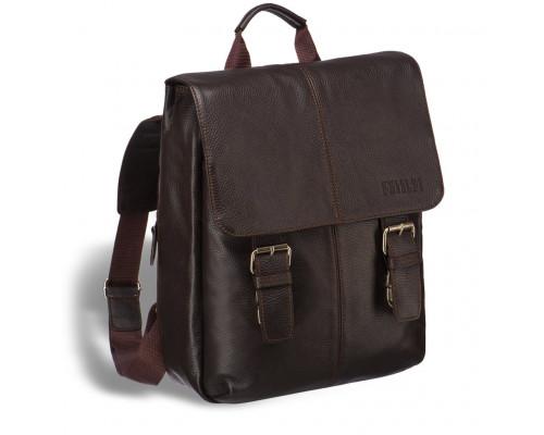 Практичный мужской рюкзак BRIALDI Broome (Брум) relief brown