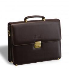 Стильный портфель классической формы BRIALDI Fleming (Флеминг) brown в магазине Galantmaster.ru фото