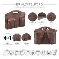 Универсальный портфель BRIALDI Telford (Телфорд) relief rust