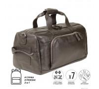 Дорожно-спортивная сумка трансформер BRIALDI Sparta (Спарта) relief brown BR30909NK