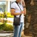 Кожаная сумка через плечо BRIALDI Headford (Хедфорд) relief brown в магазине Galantmaster.ru фото 2