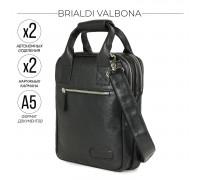 Кожаная сумка через плечо BRIALDI Valbona (Вальбона) relief black в магазине Galantmaster.ru фото