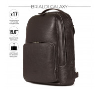 Мужской рюкзак BRIALDI Galaxy (Галакси) relief brown в магазине Galantmaster.ru фото