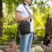 Кожаная сумка через плечо BRIALDI Levin (Левин) relief brown в магазине Galantmaster.ru фото 15