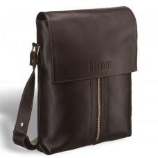Кожаная сумка через плечо BRIALDI Positano (Позитано) brown в магазине Galantmaster.ru фото