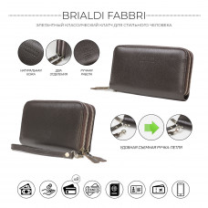Мужской клатч BRIALDI Fabbri (Фаббри) relief brown