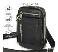 Кожаная сумка через плечо mini-формата BRIALDI West (Вест) relief black BR13003HT