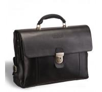 Объемный деловой портфель с 3-мя отделениями BRIALDI Bolivar (Боливар) black