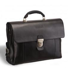 Объемный деловой портфель с 3-мя отделениями BRIALDI Bolivar (Боливар) black в магазине Galantmaster.ru фото