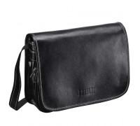 Кожаная сумка через плечо BRIALDI Cambridge (Кембридж) black в магазине Galantmaster.ru фото