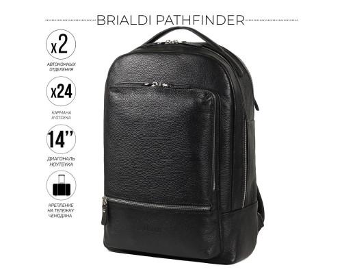 Мужской рюкзак BRIALDI Pathfinder (Следопыт) relief black