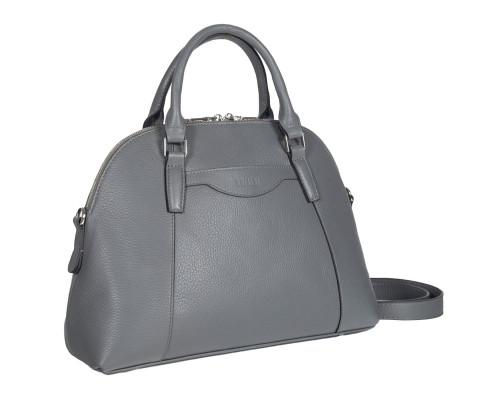 Женская деловая сумка среднего размера BRIALDI Ambra (Амбра) relief grey