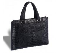 Женская деловая сумка BRIALDI Aisa (Аиса) croco black в магазине Galantmaster.ru фото