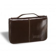 Мужской клатч BRIALDI Utah (Юта) shiny brown в магазине Galantmaster.ru фото