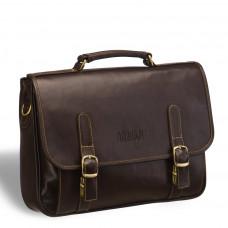 Классический деловой портфель BRIALDI Faraday (Фарадей) brown в магазине Galantmaster.ru фото