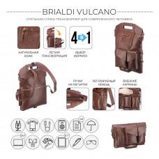 Сумка-трансформер 4-в-1 BRIALDI Vulcano (Вулькано) relief rust
