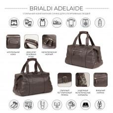 Спортивная сумка малого формата BRIALDI Adelaide (Аделаида) relief brown в магазине Galantmaster.ru фото