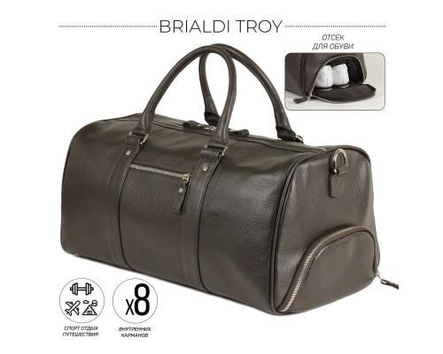 Дорожно-спортивная сумка BRIALDI Troy (Троя) relief brown