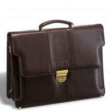 Классический деловой портфель BRIALDI Kant (Кант) brown в магазине Galantmaster.ru фото