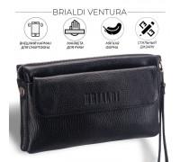 Мужской кожаный клатч BRIALDI Ventura (Вентура) relief black BR13001GG