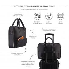 Деловая сумка-трансформер 3-в-1 BRIALDI Hudson (Гудзон) black