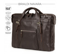 Деловая сумка BRIALDI Navara (Навара) relief brown